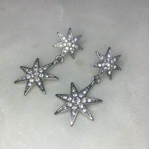 BaubleBar Star Drop Pavé Earrings - NWT